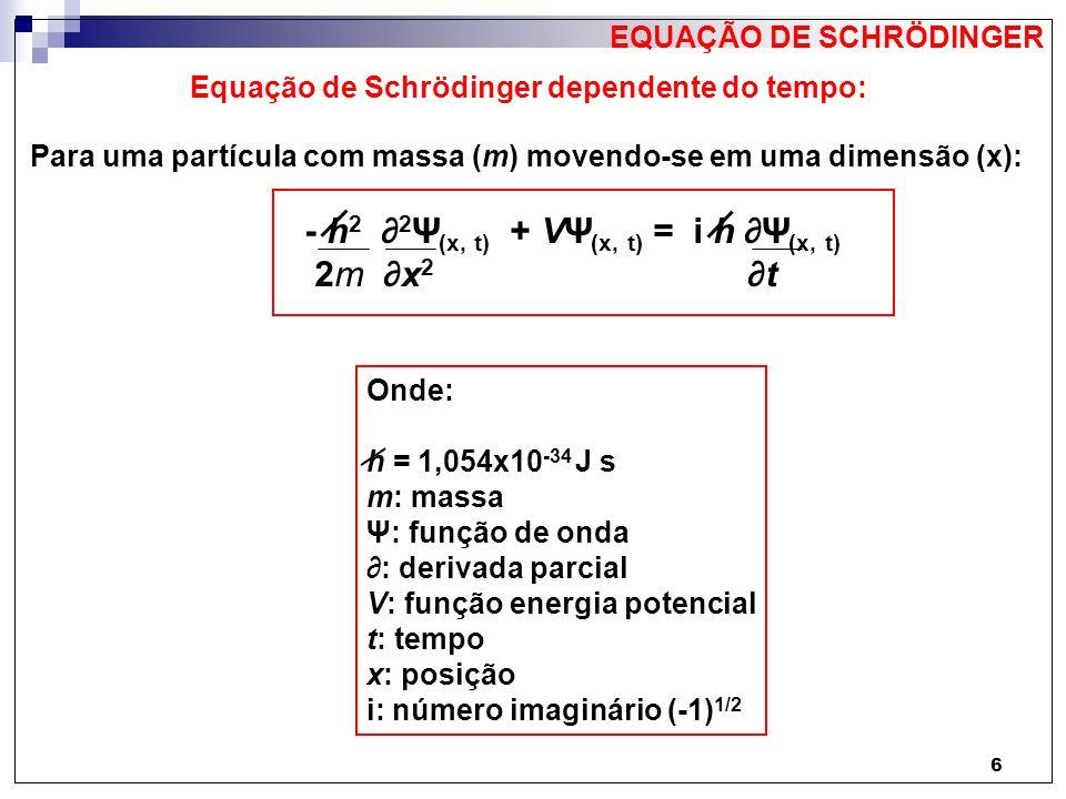 Equação de Schrödinger dependente do tempo: