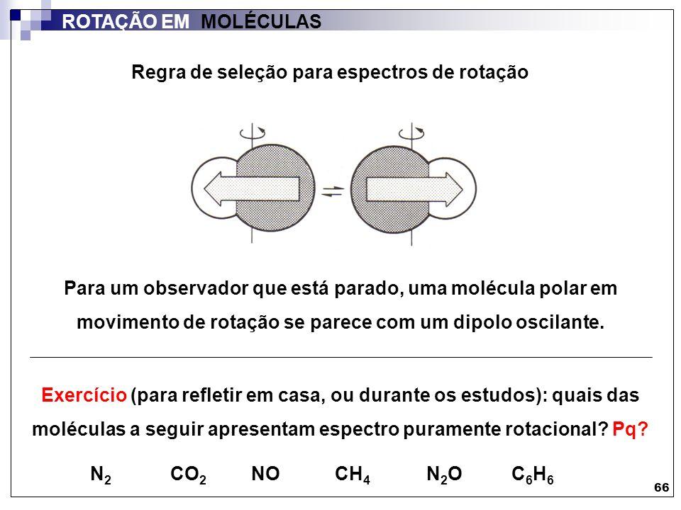 Regra de seleção para espectros de rotação