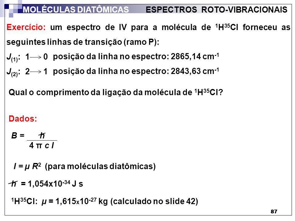 ESPECTROS ROTO-VIBRACIONAIS