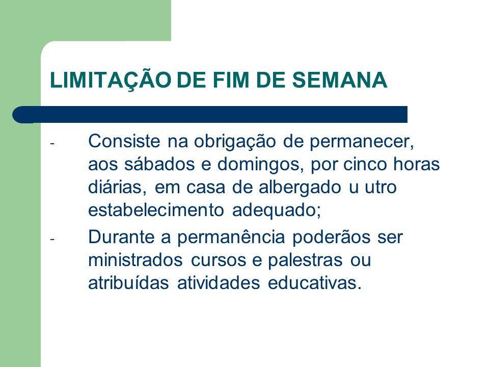 LIMITAÇÃO DE FIM DE SEMANA