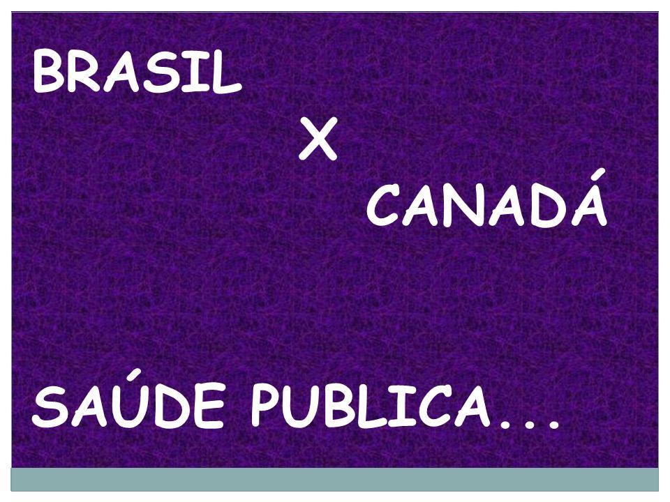 BRASIL X CANADÁ SAÚDE PUBLICA...