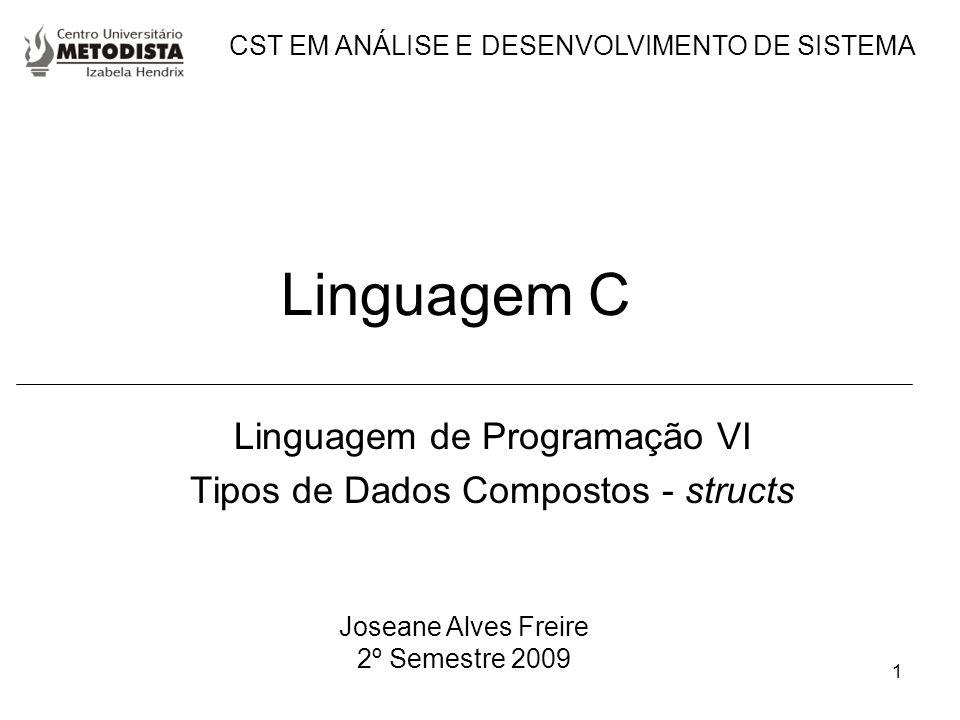 Linguagem de Programação VI Tipos de Dados Compostos - structs
