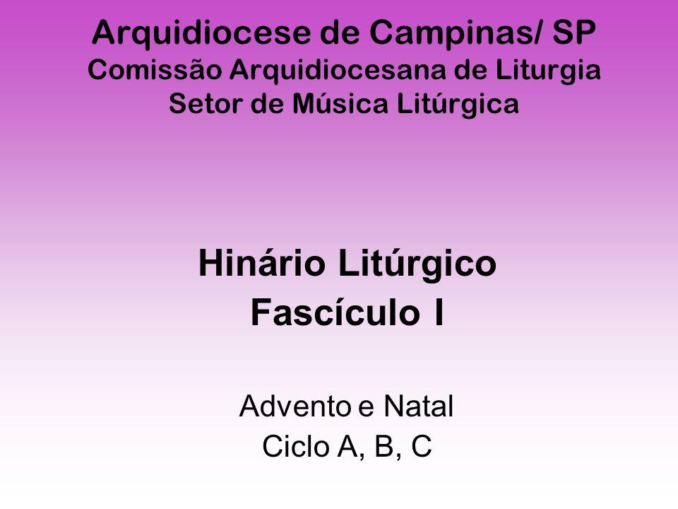 Hinário Litúrgico Fascículo I Advento e Natal Ciclo A, B, C