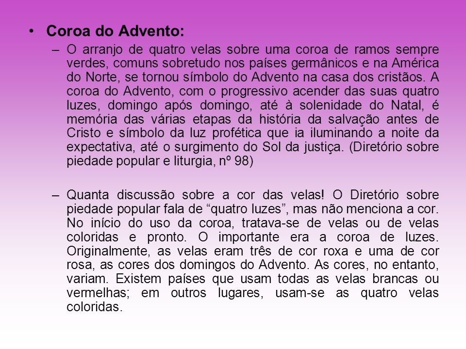 Coroa do Advento: