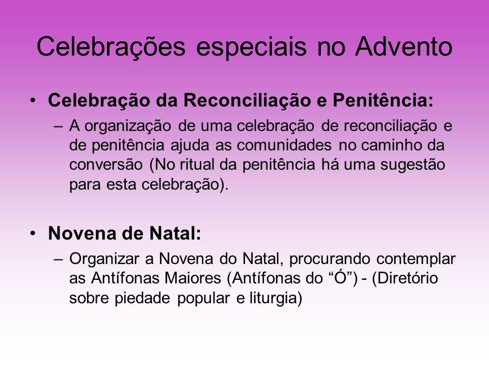 Celebrações especiais no Advento