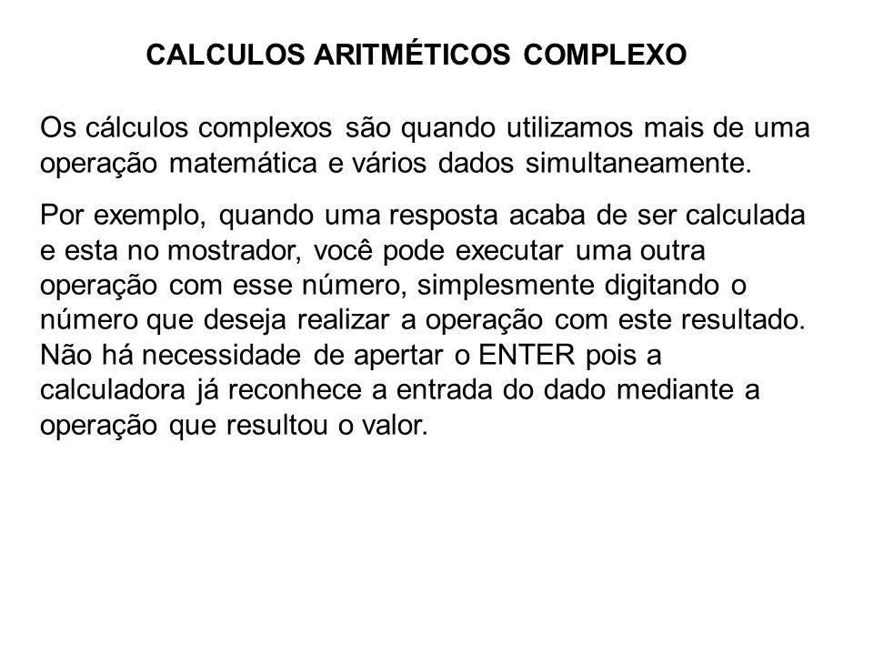 CALCULOS ARITMÉTICOS COMPLEXO