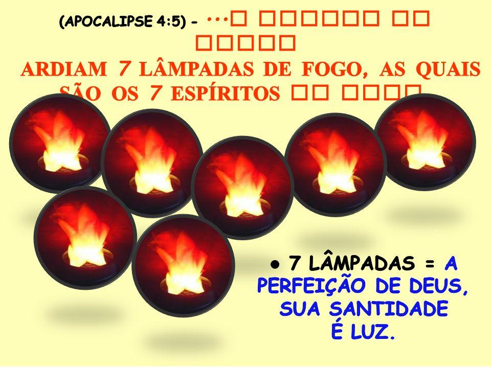 ARDIAM 7 LÂMPADAS DE FOGO, AS QUAIS SÃO OS 7 ESPÍRITOS DE DEUS.