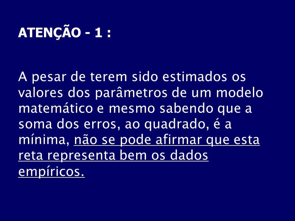 ATENÇÃO - 1 :