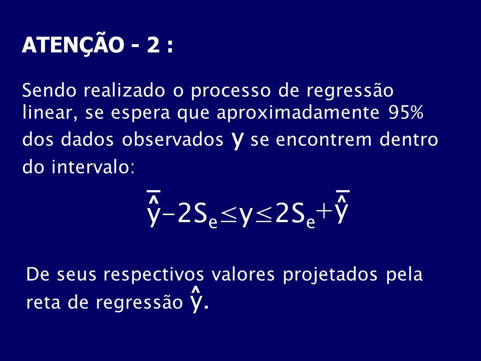 +y y-2Se≤y≤2Se _ _ ATENÇÃO - 2 : ^