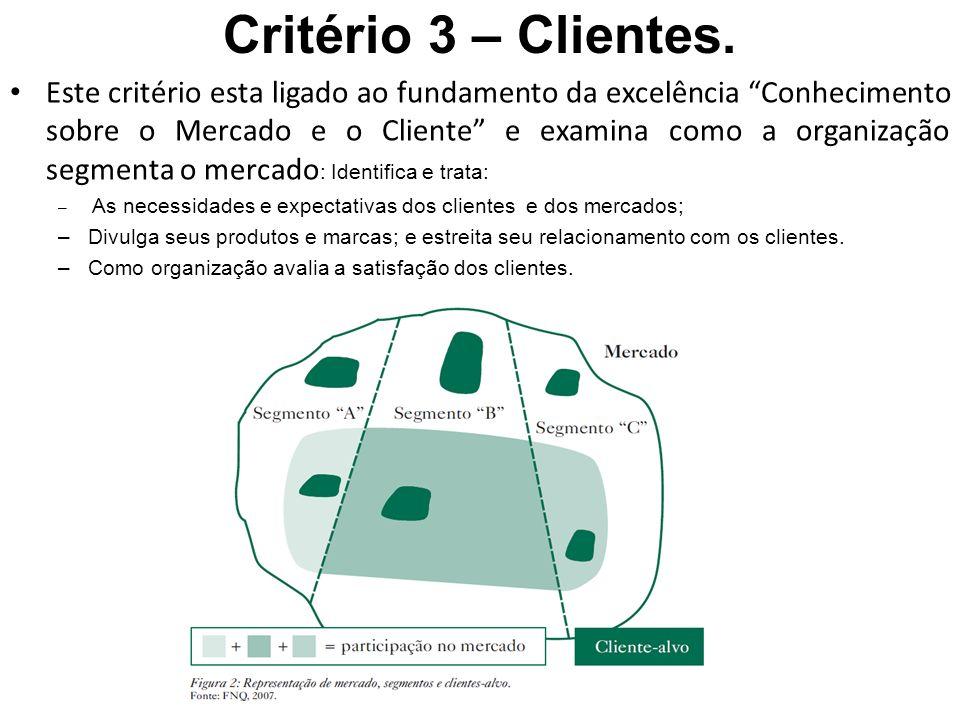 Critério 3 – Clientes.