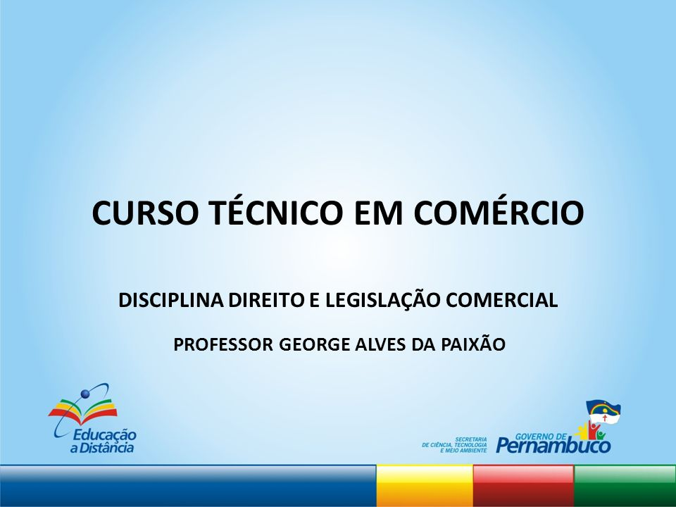 CURSO TÉCNICO EM COMÉRCIO