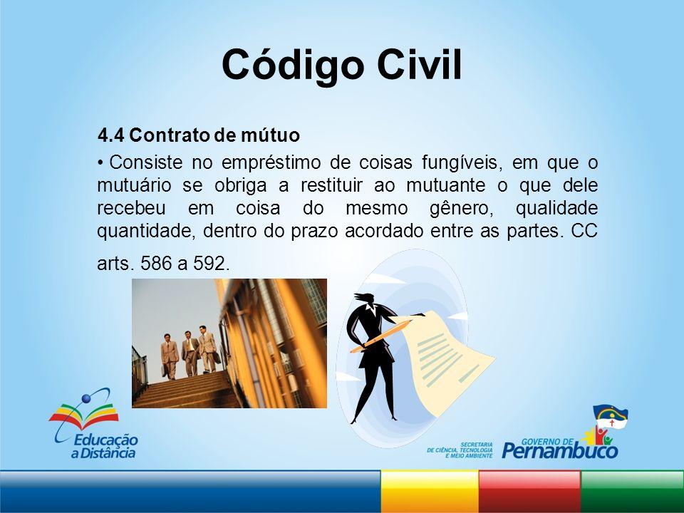 Código Civil 4.4 Contrato de mútuo