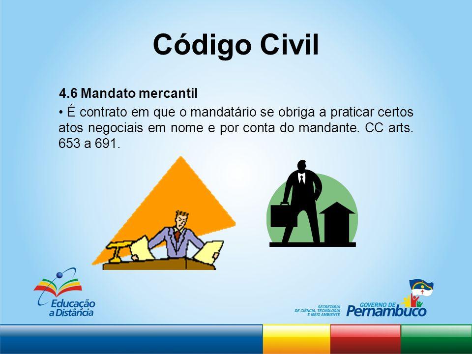 Código Civil 4.6 Mandato mercantil