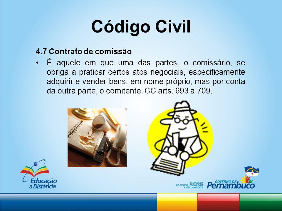 Código Civil 4.7 Contrato de comissão
