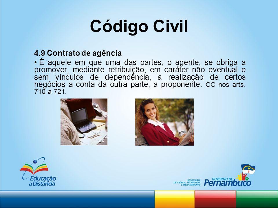 Código Civil 4.9 Contrato de agência
