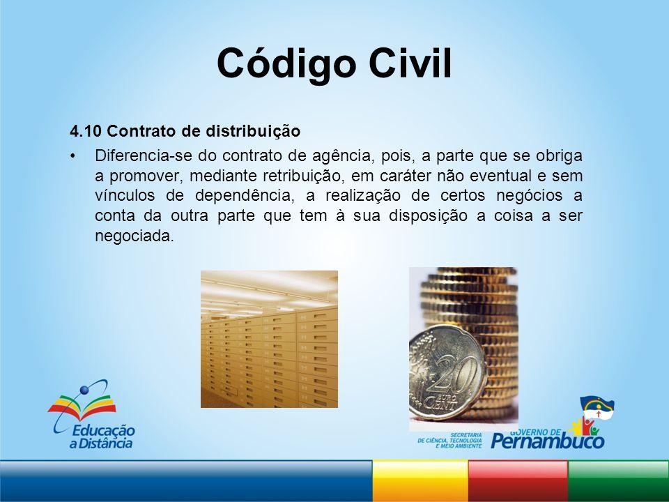 Código Civil 4.10 Contrato de distribuição