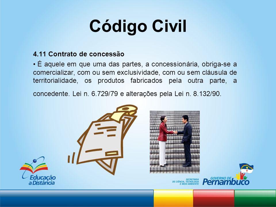 Código Civil 4.11 Contrato de concessão
