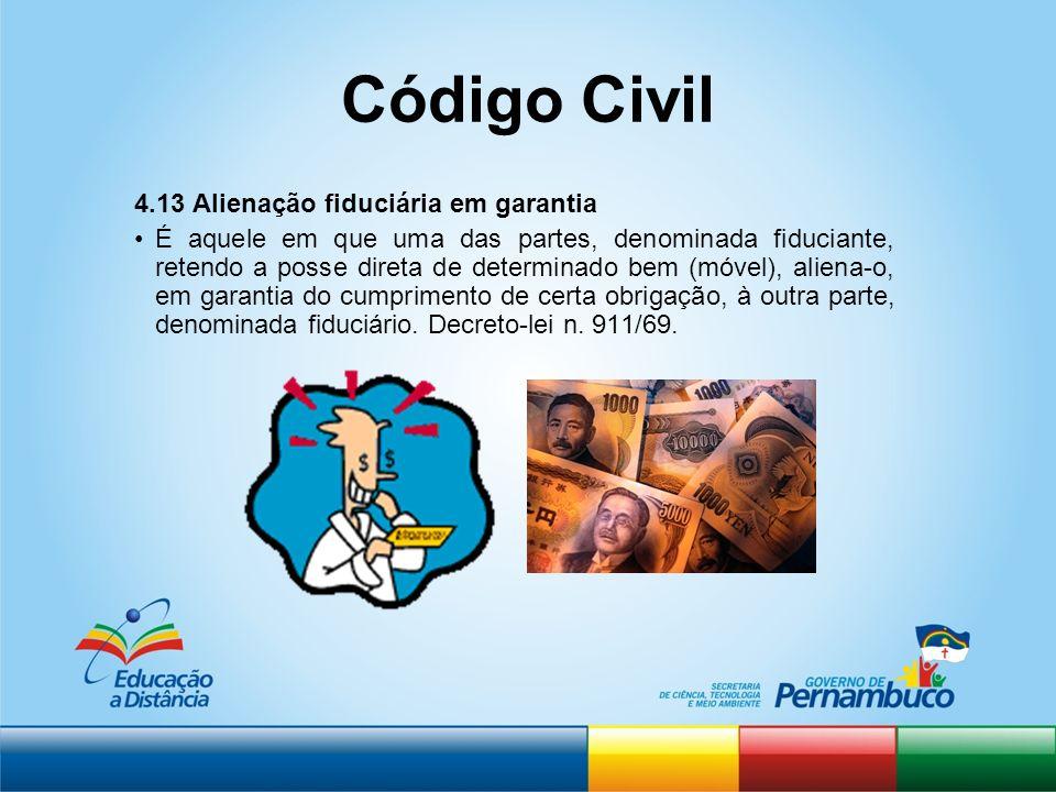 Código Civil 4.13 Alienação fiduciária em garantia