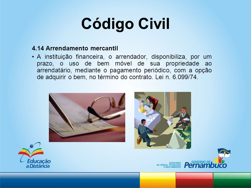Código Civil 4.14 Arrendamento mercantil