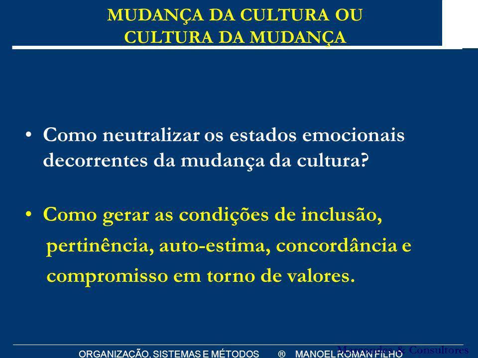 ORGANIZAÇÃO, SISTEMAS E MÉTODOS ® MANOEL ROMAN FILHO