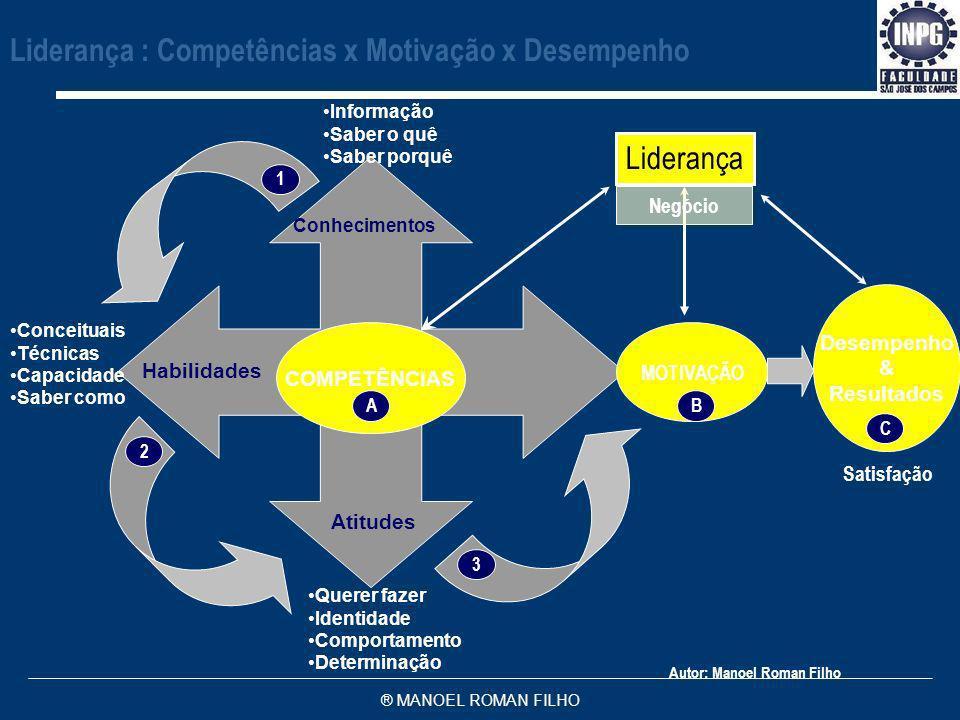 Liderança : Competências x Motivação x Desempenho