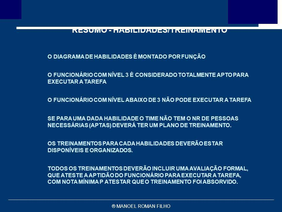 RESUMO - HABILIDADES/TREINAMENTO