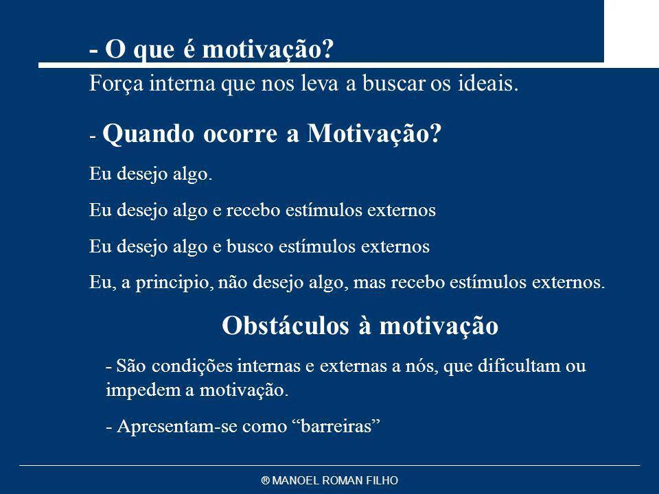 Obstáculos à motivação
