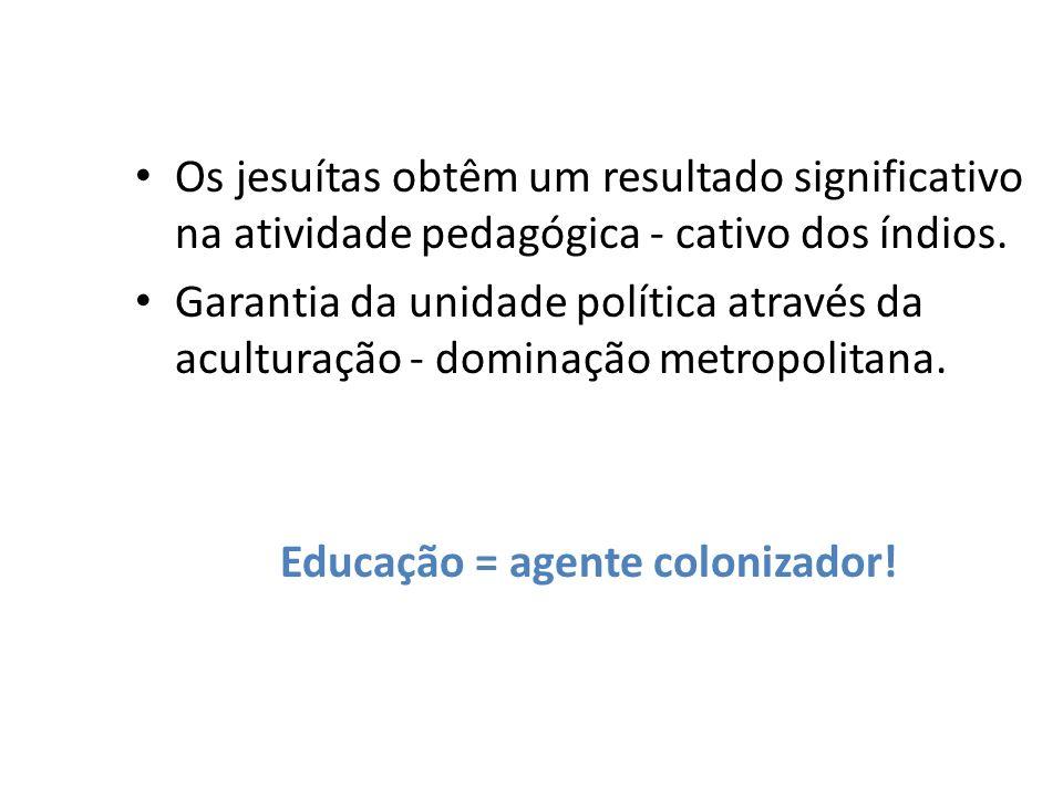 Educação = agente colonizador!