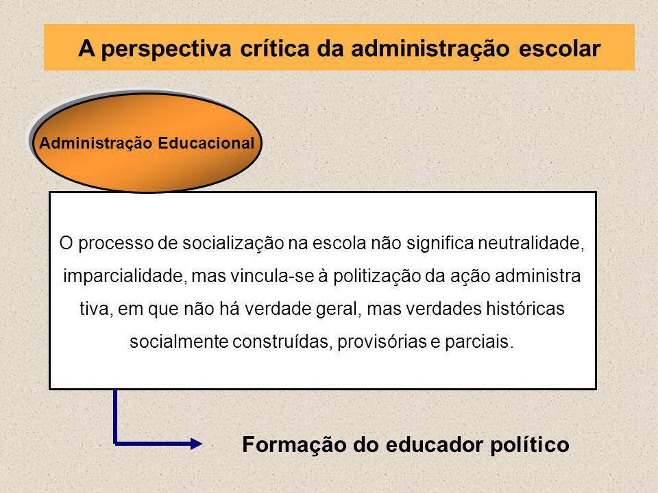 A perspectiva crítica da administração escolar