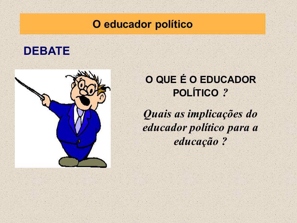 Quais as implicações do educador político para a educação