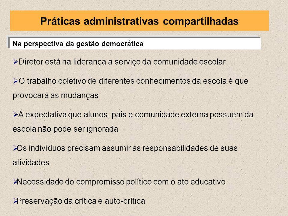 Práticas administrativas compartilhadas
