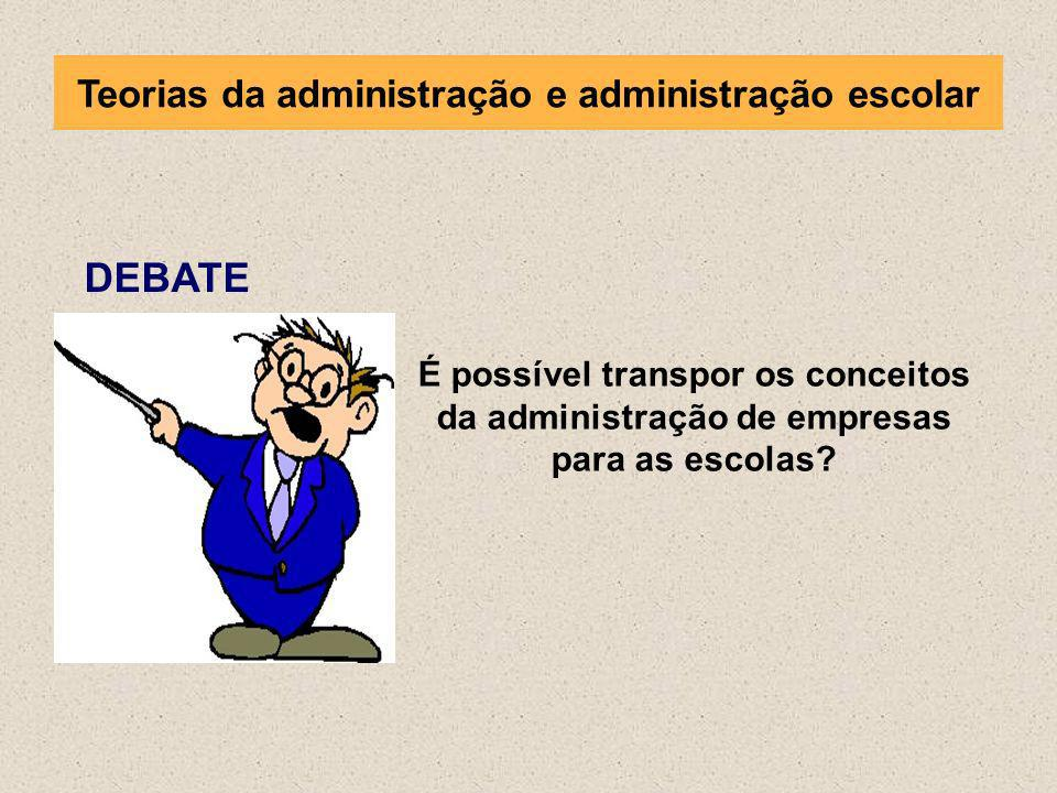 Teorias da administração e administração escolar