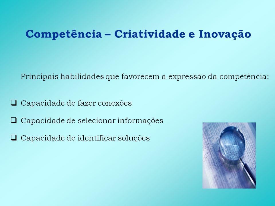 Competência – Criatividade e Inovação