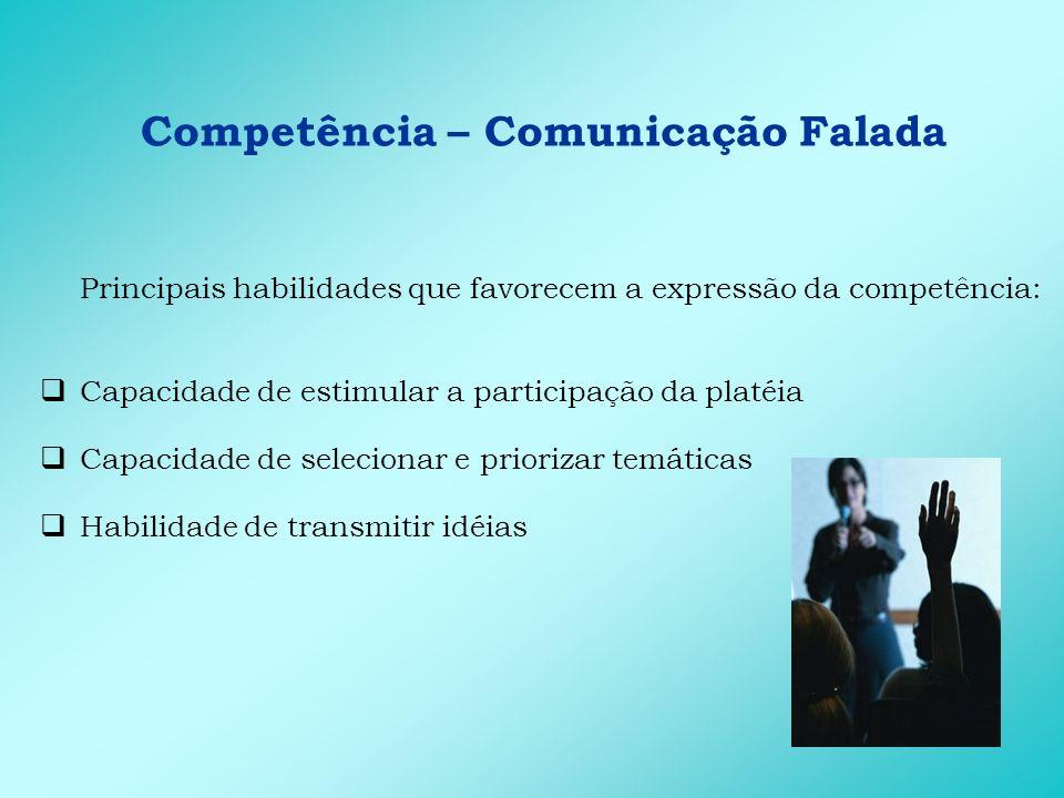 Competência – Comunicação Falada