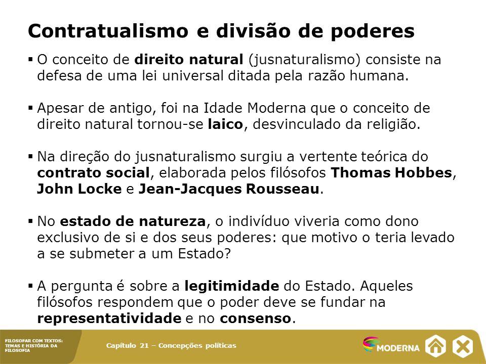 Contratualismo e divisão de poderes