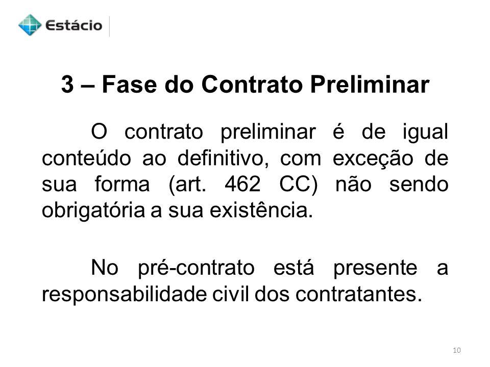 3 – Fase do Contrato Preliminar