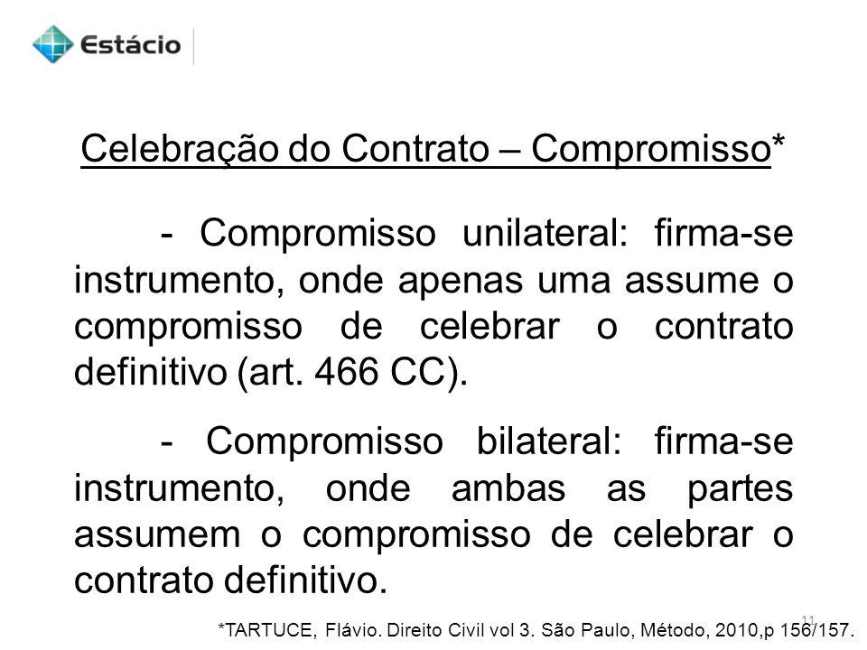 Celebração do Contrato – Compromisso*
