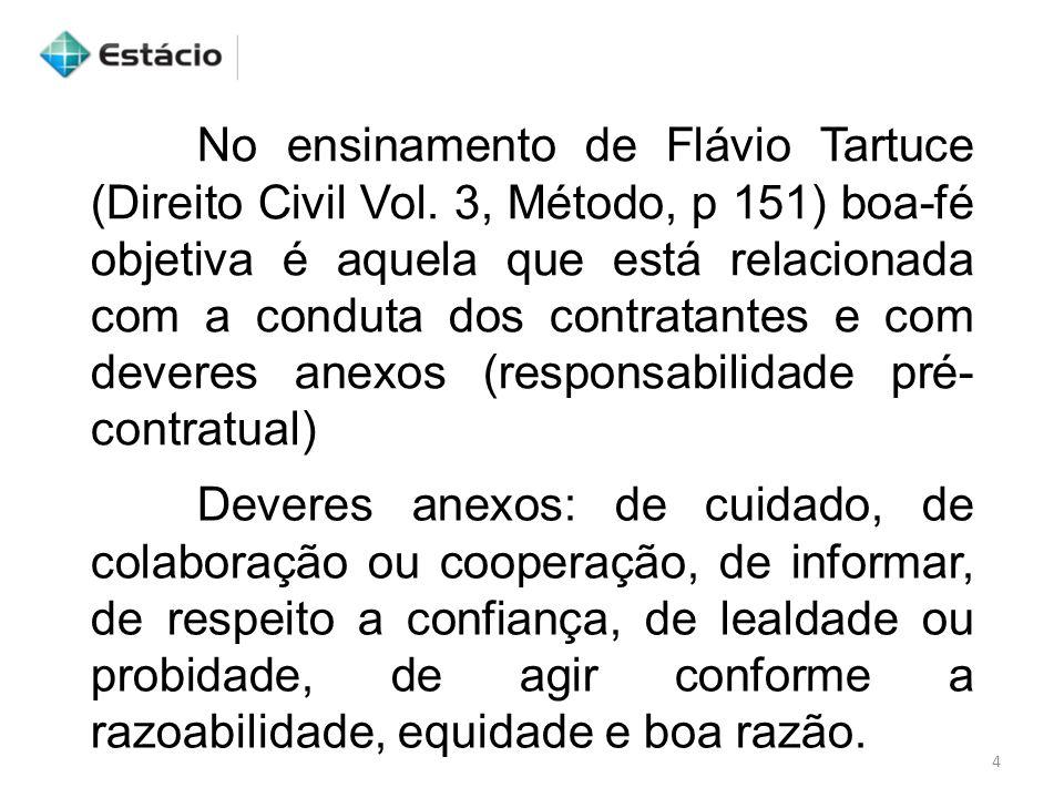 No ensinamento de Flávio Tartuce (Direito Civil Vol