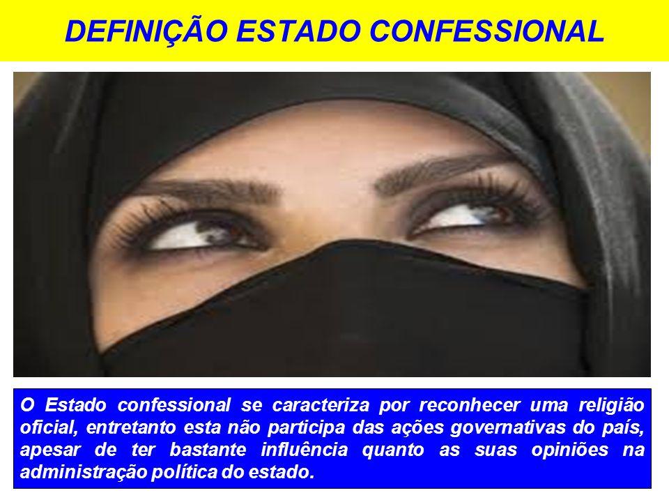 DEFINIÇÃO ESTADO CONFESSIONAL