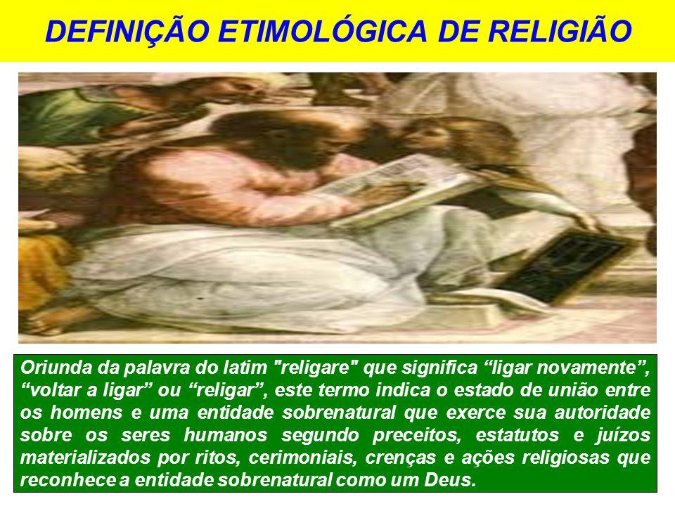 DEFINIÇÃO ETIMOLÓGICA DE RELIGIÃO