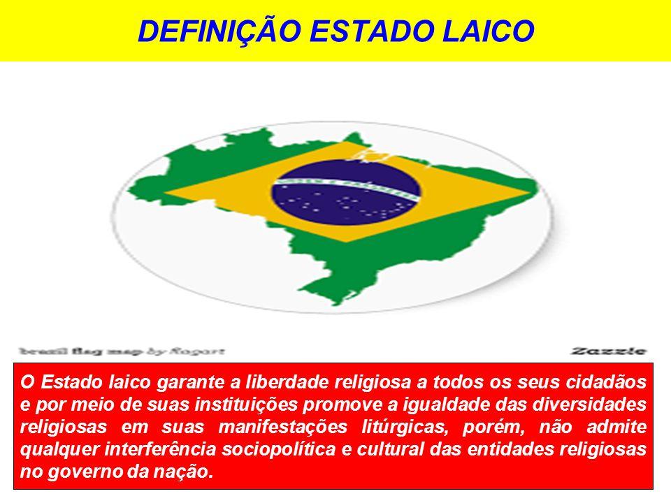 DEFINIÇÃO ESTADO LAICO