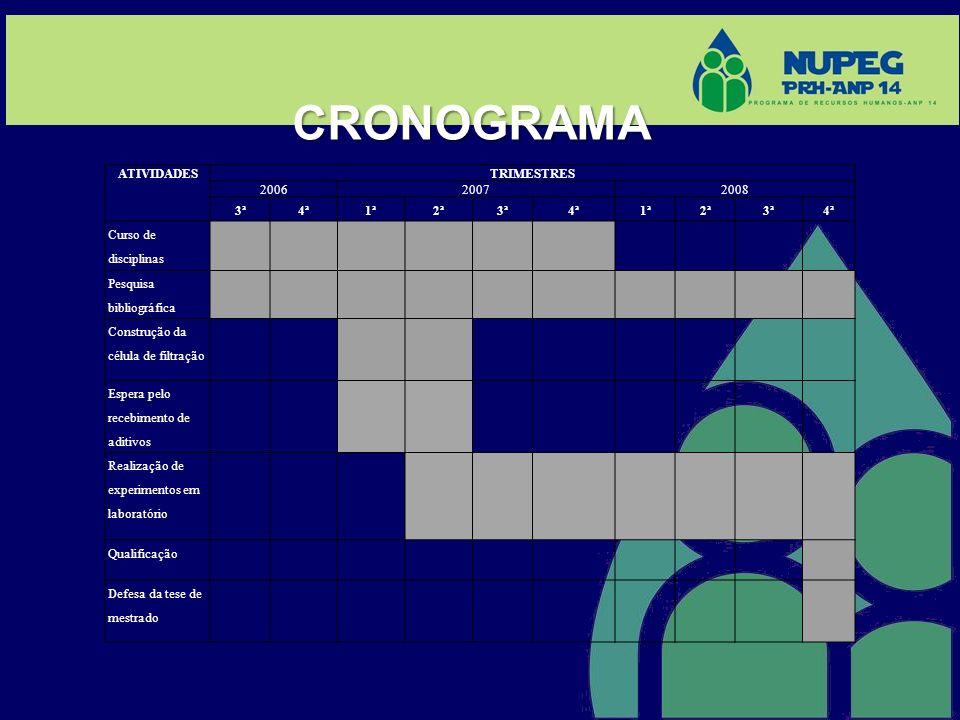 CRONOGRAMA ATIVIDADES TRIMESTRES 2006 2007 2008 3ª 4ª 1ª 2ª