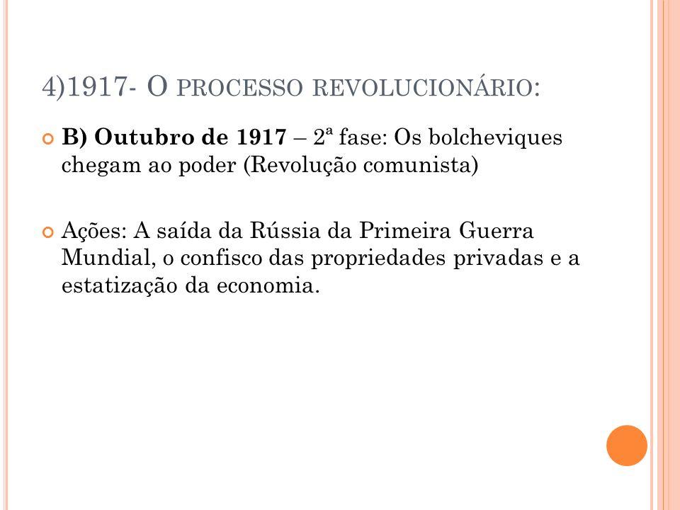 4)1917- O processo revolucionário: