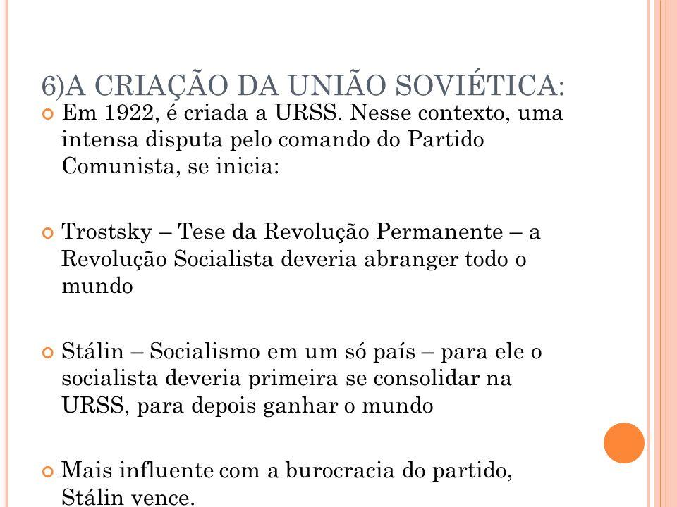 6)A CRIAÇÃO DA UNIÃO SOVIÉTICA: