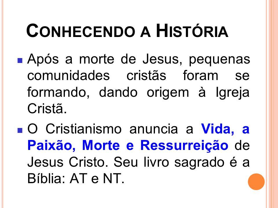 Conhecendo a História Após a morte de Jesus, pequenas comunidades cristãs foram se formando, dando origem à Igreja Cristã.