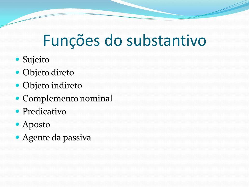 Funções do substantivo
