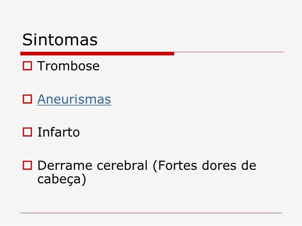 Sintomas Trombose Aneurismas Infarto