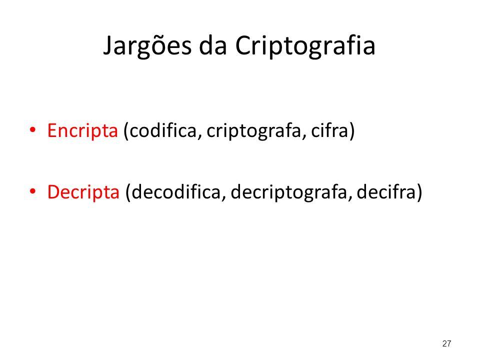 Jargões da Criptografia