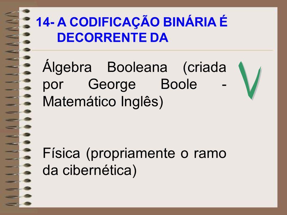 Álgebra Booleana (criada por George Boole - Matemático Inglês)