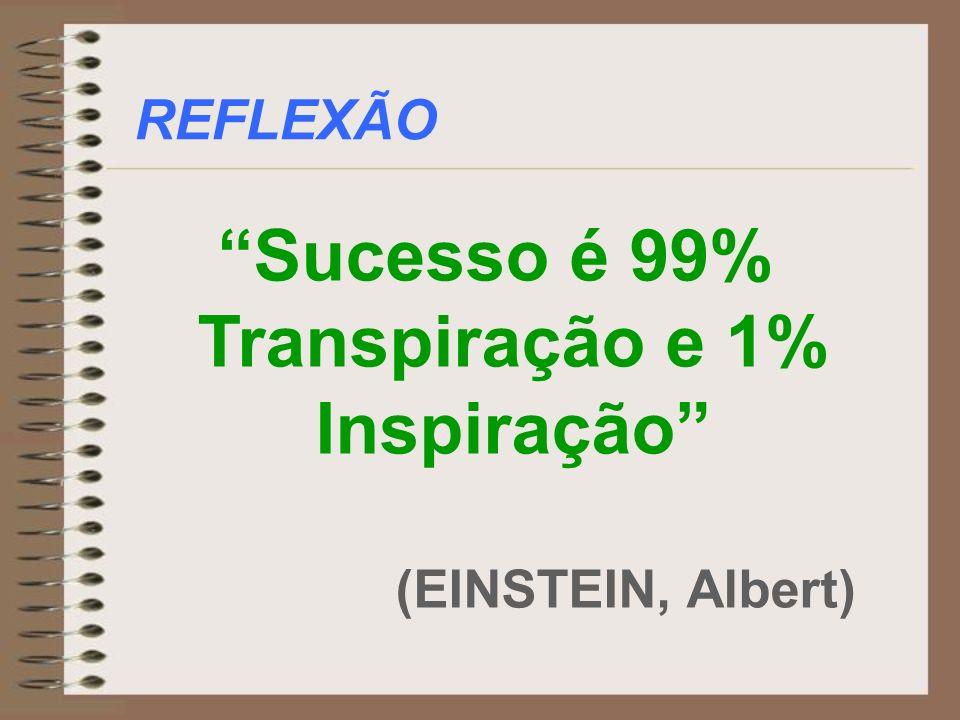 Sucesso é 99% Transpiração e 1% Inspiração